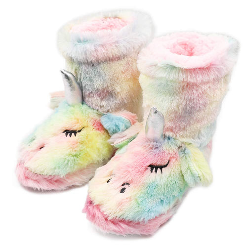 Kids Girl Unicorn Booties Bedroom Slippers