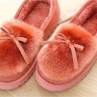 BELLOO Womens Ladies Winter Home Slippers Shoes Fur Lined