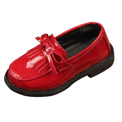 Girls Soft Sole Tassel Loafers