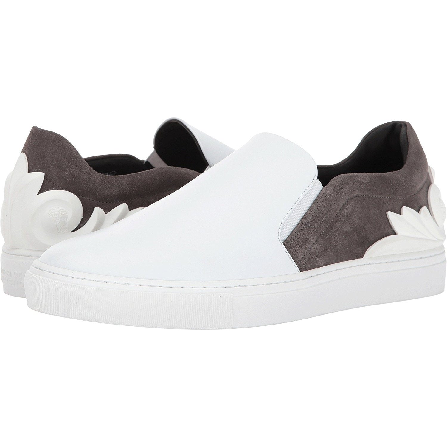 Versace Collection Mens Baroque Detailed Slip-On