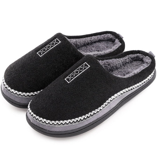 EverFoams Men's Cozy Fuzzy Slippers