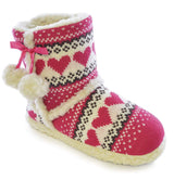 Pretty heart girls indoor slippers