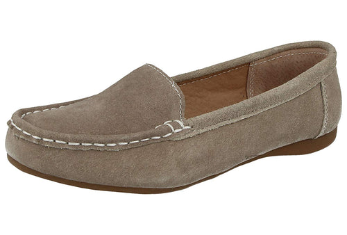 Ladies Suede Leather Driving Loafer