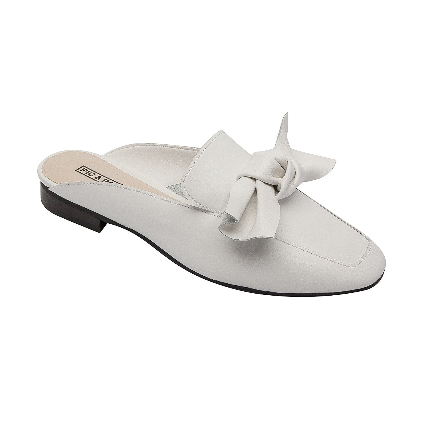 PIC/PAY Dakota | Women's Bow Adorned Slip-On Comfortable Loafer Mule Leather Suede (New Spring)