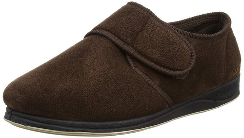 Padders Charles Brown Microsuede Indoor Slippers