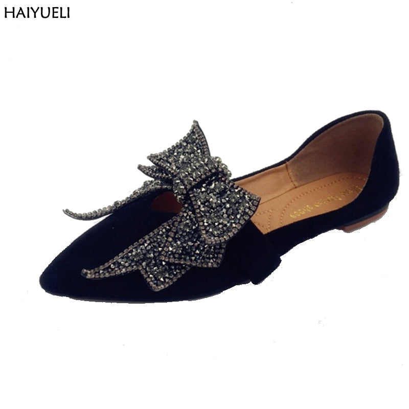 Butterfly Knot Ladies Slip Ons