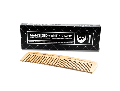 Beard Comb Always Bearded, Anti-Static Maple