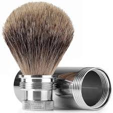 Shave Brush, Travel with Badger Hair