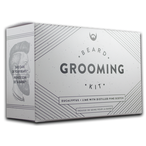 Beard Essentials Pack Always Bearded, Eucalyptus + Lime with Distilled Pine Scotch