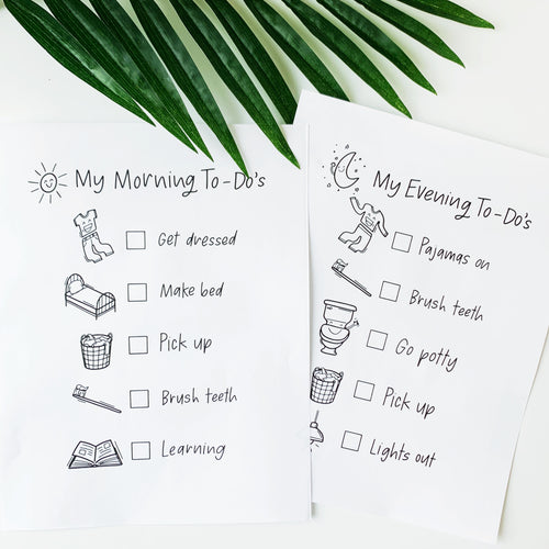 3 PACK PRINTABLE, KIDS TO-DO LISTS