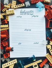 MAGNETIC BACKED BABYSITTER NOTEPAD