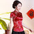 Mandarin Collar Floral Brocade Chinese Shirt