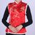 Floral Brocade Chinese Waistcoat with Fur Edge