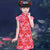 Cap Sleeve Kid's Cheongsam Floral Qipao Dress