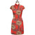 Signature Cotton Knee Length Floral Cheongsam Chinese Dress
