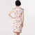 Asymmetric Hem Knee Length Floral Cheongsam With Lace Edge