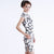 Knee Length Cheongsam with Chinese Ink Wash Painting