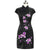 Orchid Embroidery Fancy Cotton Retro Cheongsam Chinese Dress