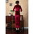 3/4 Sleeve Full Length Velvet Traditional Cheongsam Chinese Dress