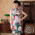 Cap Sleeve Knee Length Flowers Velvet Cheongsam Chinese Dress