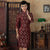 Velvet with Auspicious Pattern Lace Bodycon Traditional Cheongsam Qipao Dress
