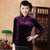 3/4 Sleeve Velvet Cheongsam Top Chinese Shirt