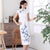 Tea Length Fancy Cotton Floral Cheongsam Chinese Dress