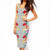 Polka Dots & Floral Pattern Knee Length Pencil Dress