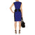 Boat Neck Cap Sleeve Ruffled Knee Length Pencil Dress