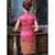 Knee Length Floral Brocade Traditional Cheongsam Chinese Dress