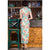 Key Hole Neck Cap Sleeve Full Length Floral Velvet Cheongsam Chinese Dress