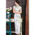 Lotus Pattern Real Silk Full Length Cheongsam Chinese Dress