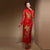 Dragon & Pheonix Appliques Long Sleeve Qipao Wedding Dress