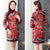 Fur Edge Wadded Cheongsam Traditional Chinese Festival Dress