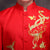 Phoenix & Floral Embroidery Satin Chinese Groom Suit