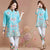 Floral Embroidery V Neck Mandarin Sleeve Traditional Chinese Blouse