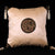 Pair of Chinese Calligraphy Pattern Taffeta Cushion Covers with Tassels