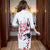 3/4 Sleeve Knee Length Silk Blend Floral Cheongsam Chinese Dress