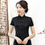 Short Sleeve Floral Lace Traditional Cheongsam Top Chinese Shirt