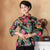 Mandarin Sleeve Phoenix & Floral Print Traditional Cheongsam Top Chinese Shirt