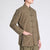 Mandarin Collar Linen Traditional Chinese Kung Fu Suit with Strap Buttons