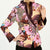 V Neck Floral Fancy Cotton Tradtional Chinese Jacket