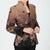V Neck Taffeta Tradtional Chinese Jacket with Butterfly Button