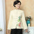 Azalea Pattern Signature Cotton Traditional Chinese Jacket