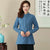 Signature Cotton Mandarin Collar Traditional Chinese Blouse