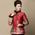 Fur Collar & Cuff Floral Linen Chinese Style Women's Wadded Coat