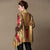 Open Front Floral Silk & Linen Chinese Style Wind Coat