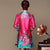 Knee Length Silk & Linen Floral Chinese Style Women's Wind Coat