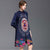 3/4 Sleeve Floral Chinese Style Wind Coat with Strap Buttons