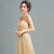 Illusion Neck Cap Sleeve A-line Evening Dress Full of Sequins